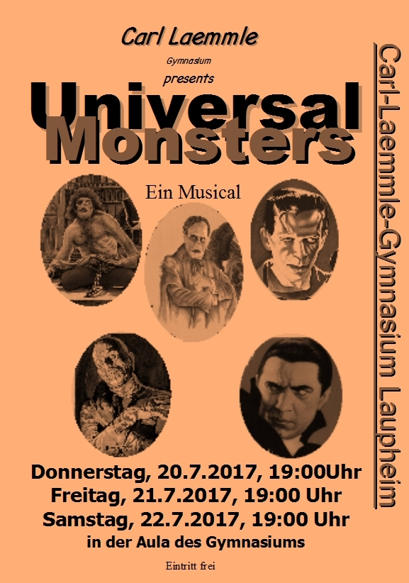 "Plakat Musical ""Universal Monsters"""